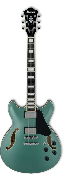 Ibanez AS73 OLM Artcore Hollow Body Guitar in Olive Metallic