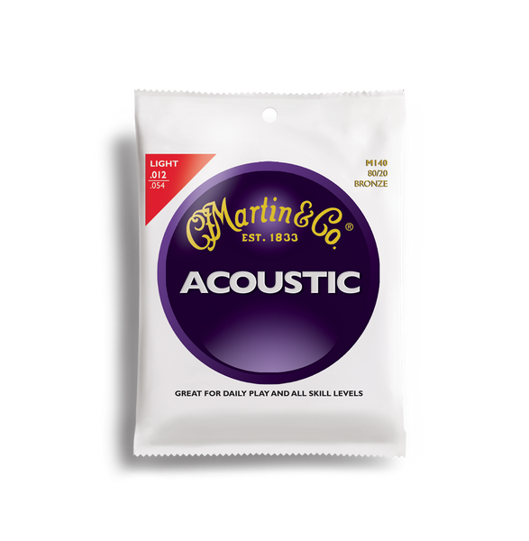 Martin M140 Acoustic Guitar String set gauge 12-54