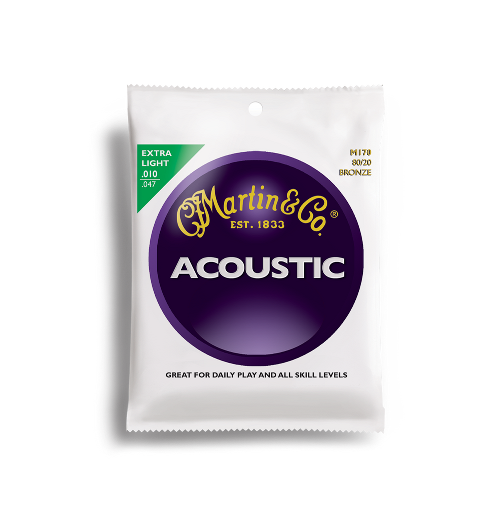 Martin M170 80/20 Bronze Acoustic Guitar Strings 10-47