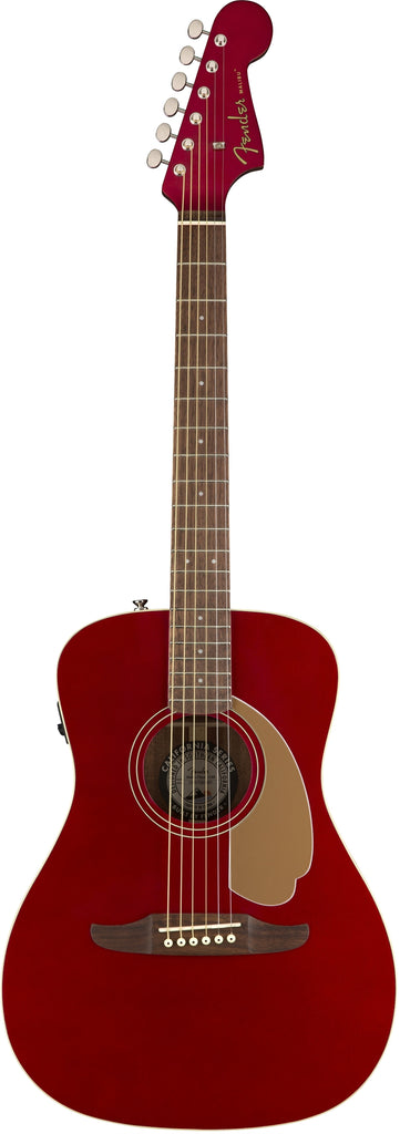 Fender Malibu Player Electro Acoustic Guitar in Candy Apple Red