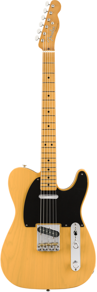 fender vintera 50s telecaster modified in butterscotch blonde electric guitar