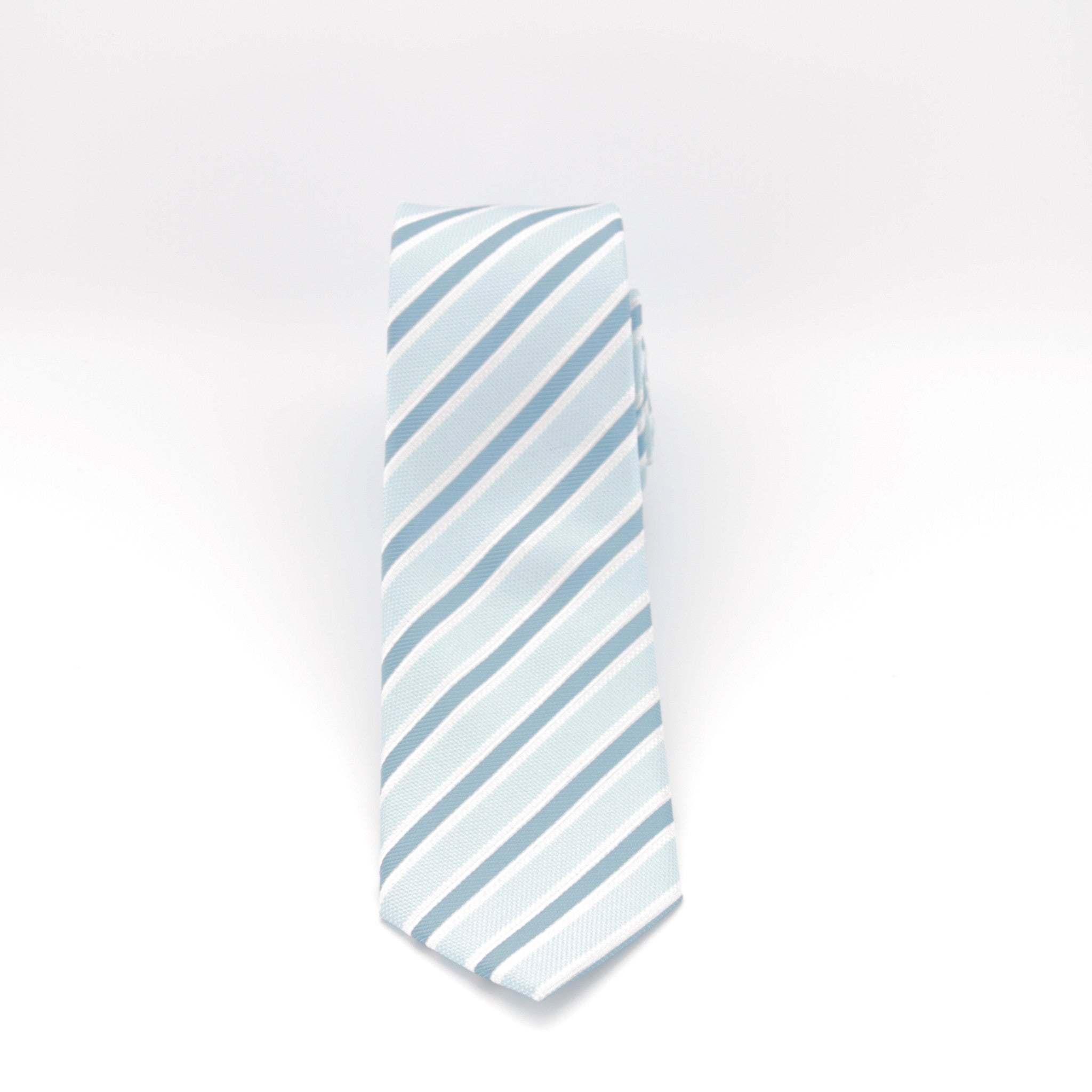 Aqua and Teal Striped Long Tie