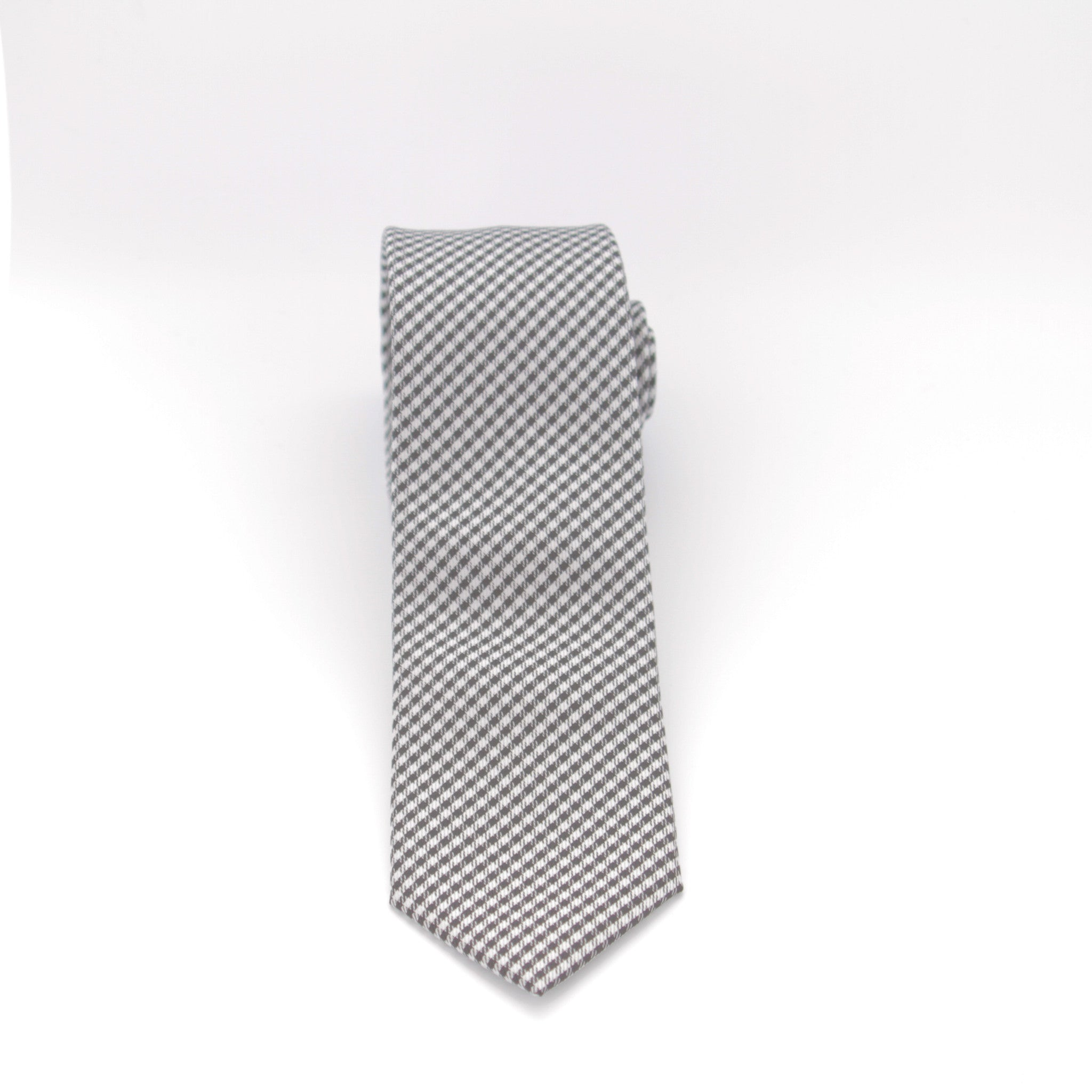 Black and White Checkered Long Tie