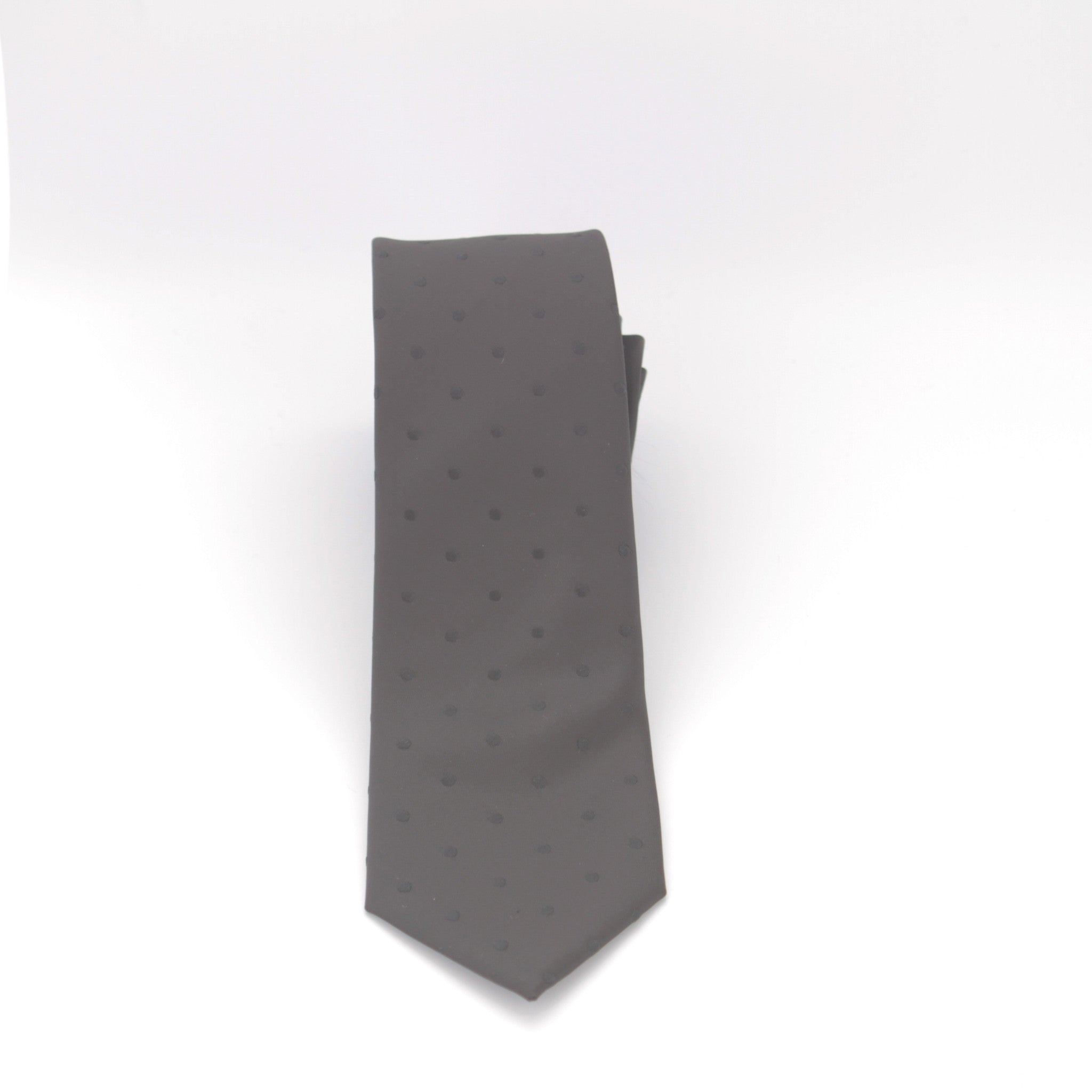 Black with Black Dot Long Tie
