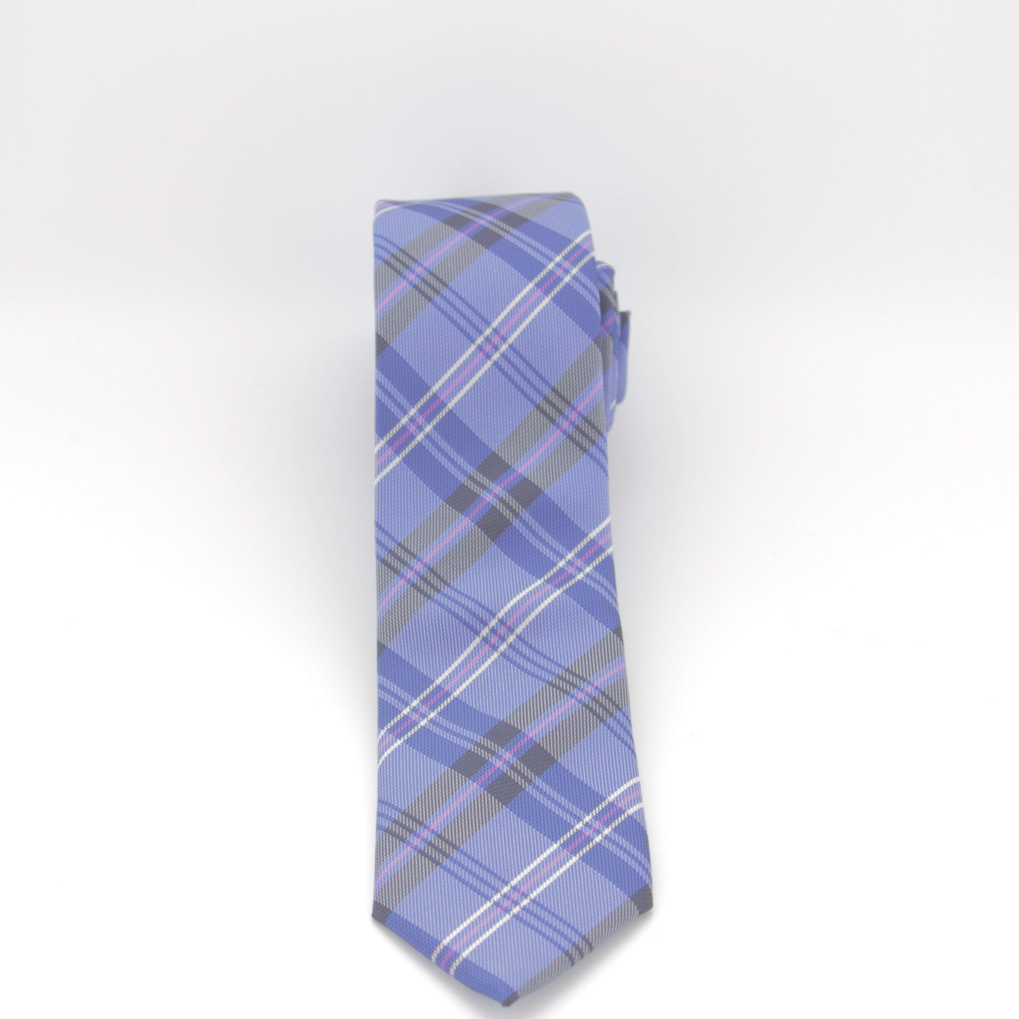 Blue Plaid Long Tie