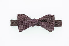 Burgundy with White Dot Bow Tie