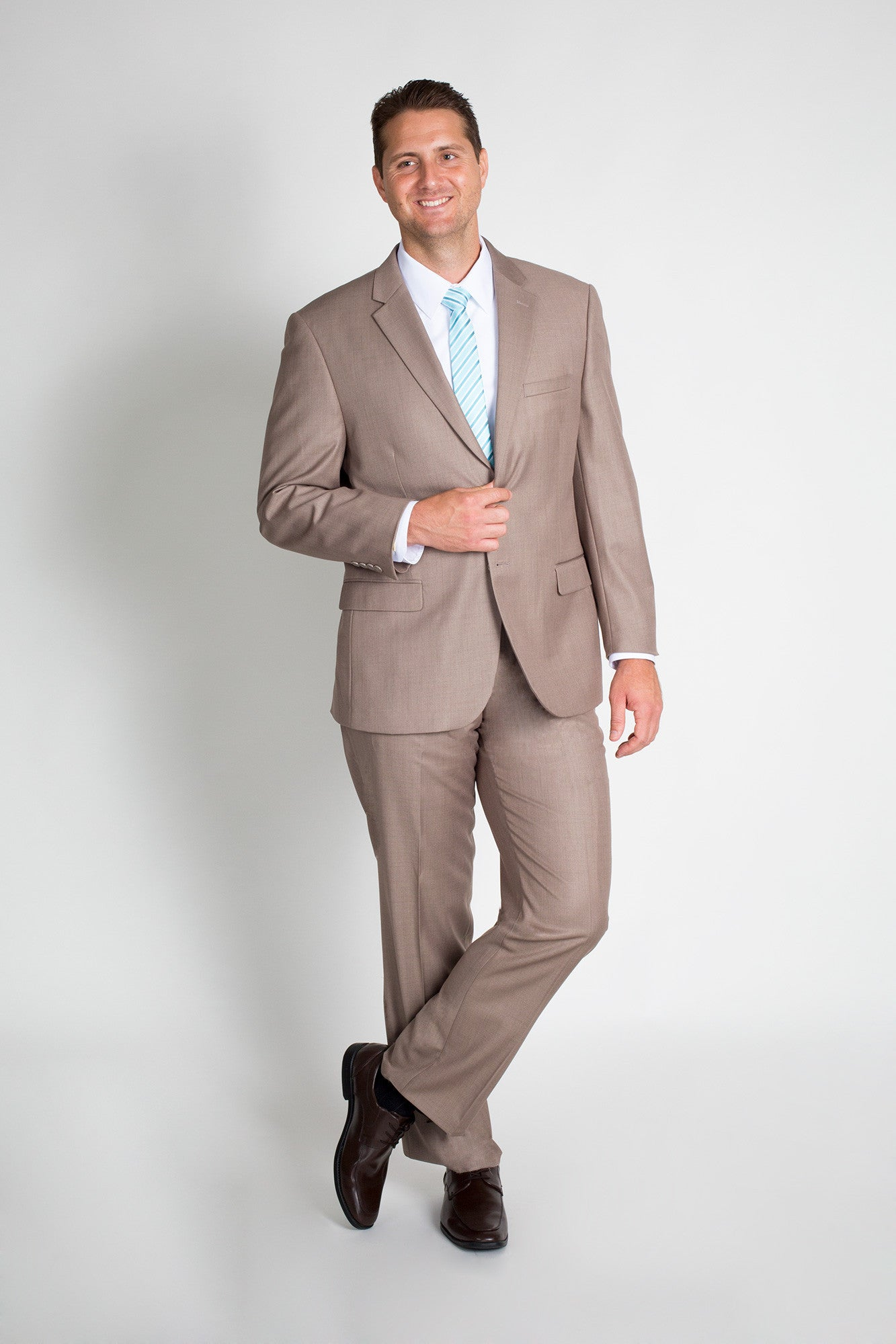 Dark Tan Classic Fit Suit