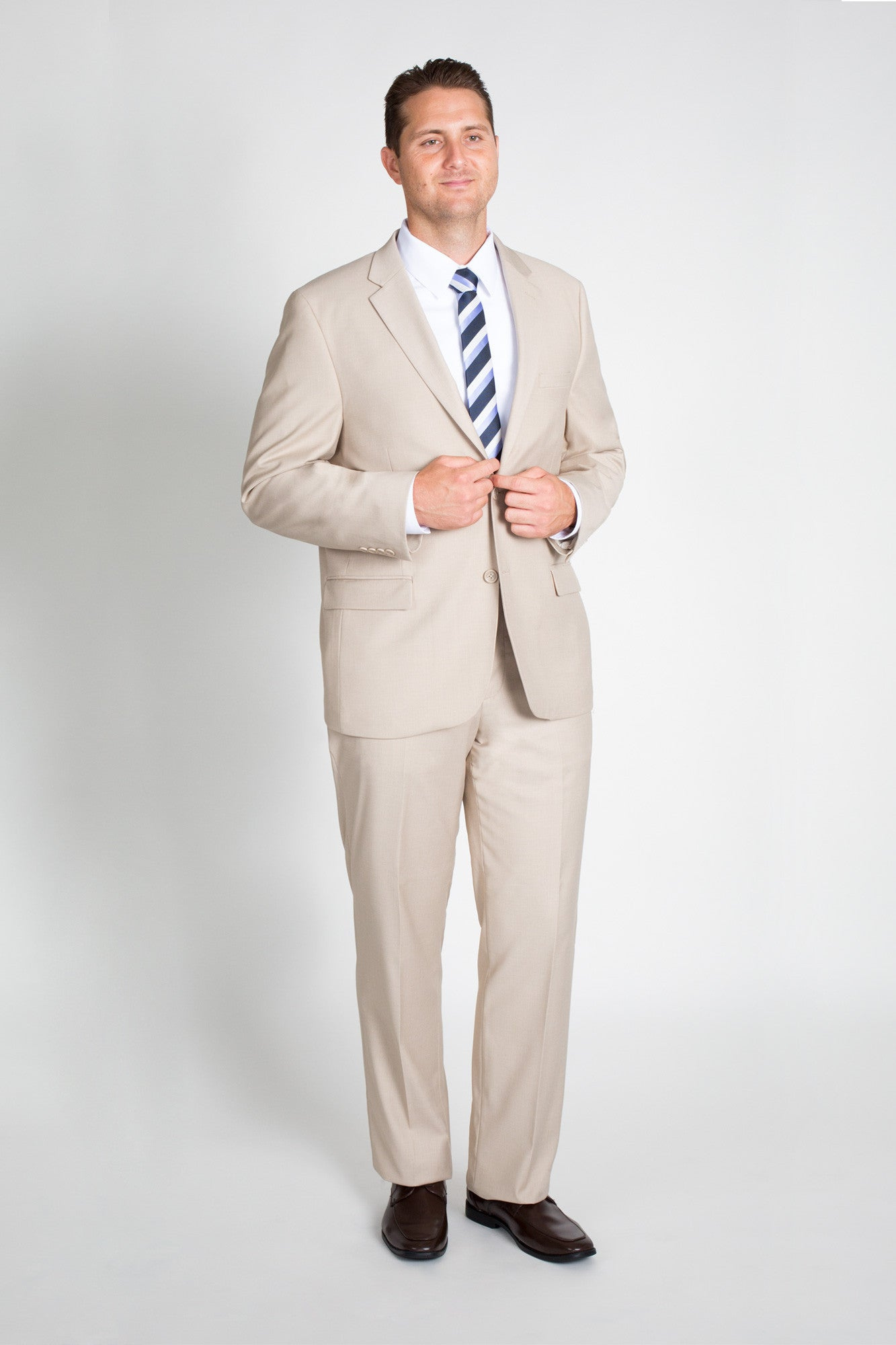 Tan/Beige Classic Fit Suit