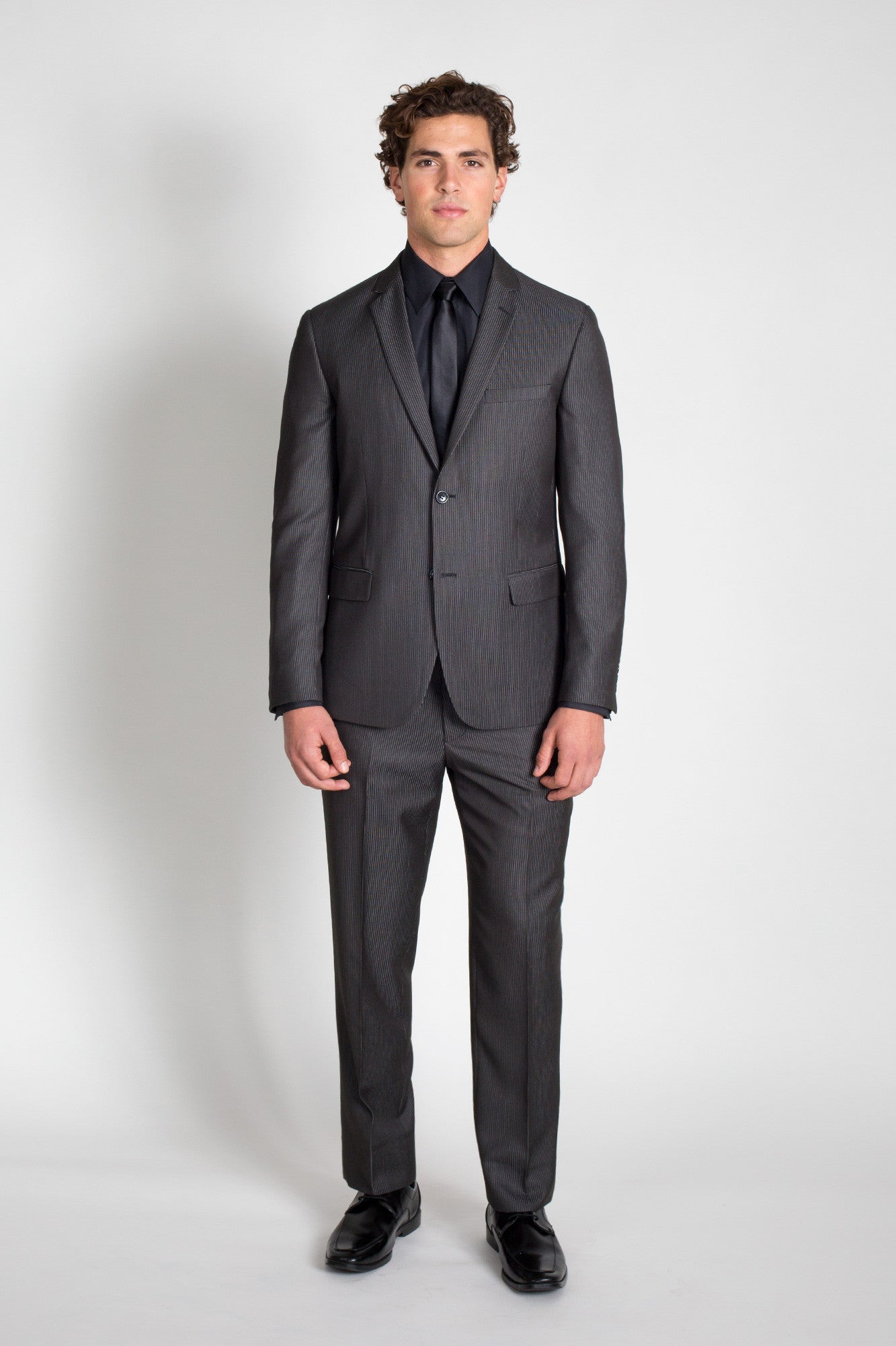 Charcoal Pinstripe Slim Fit Suit (Seasonal Collection)