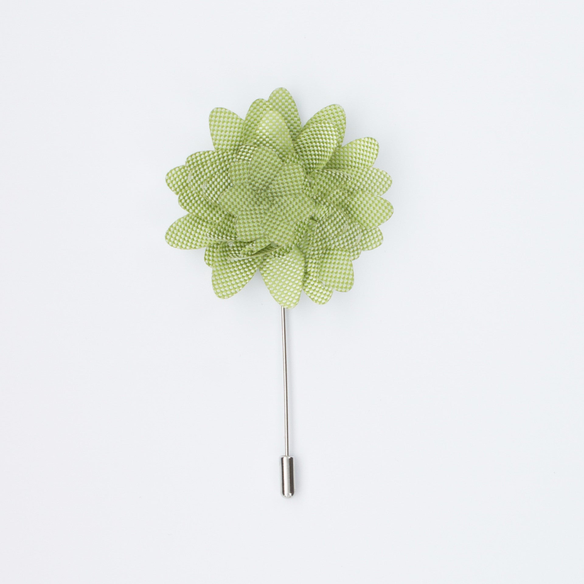 Keylime with White Dot Rosette Lapel Pin