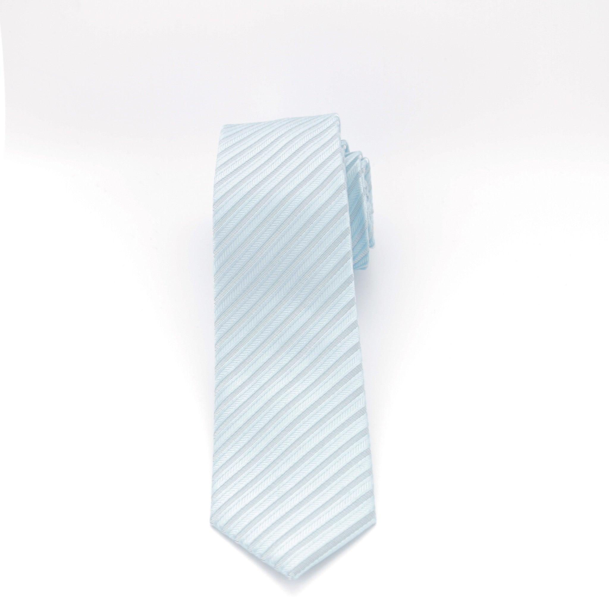 Light Aqua Striped Long Tie
