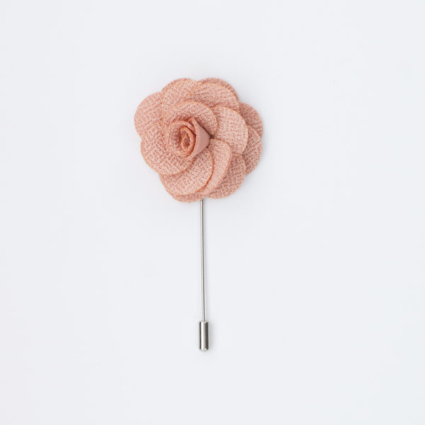 Blush Rosette Lapel Pin