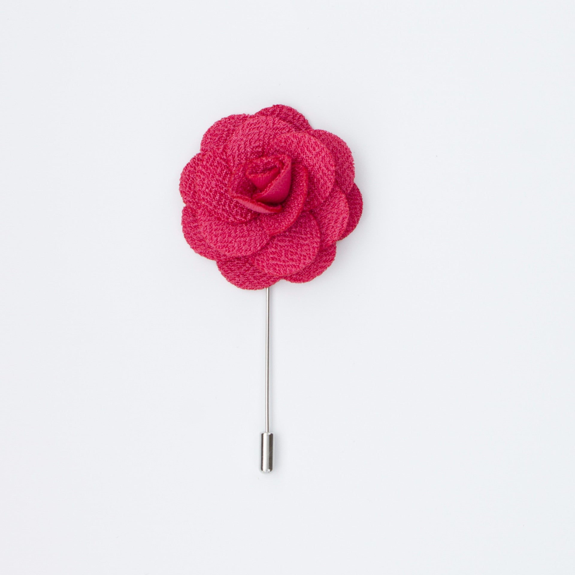 Watermelon Pink Rosette Lapel Pin