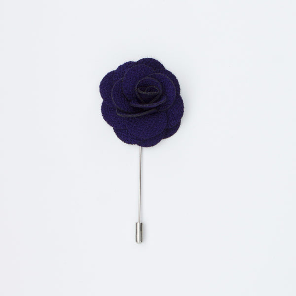 Dark Purple Rosette Lapel Pin