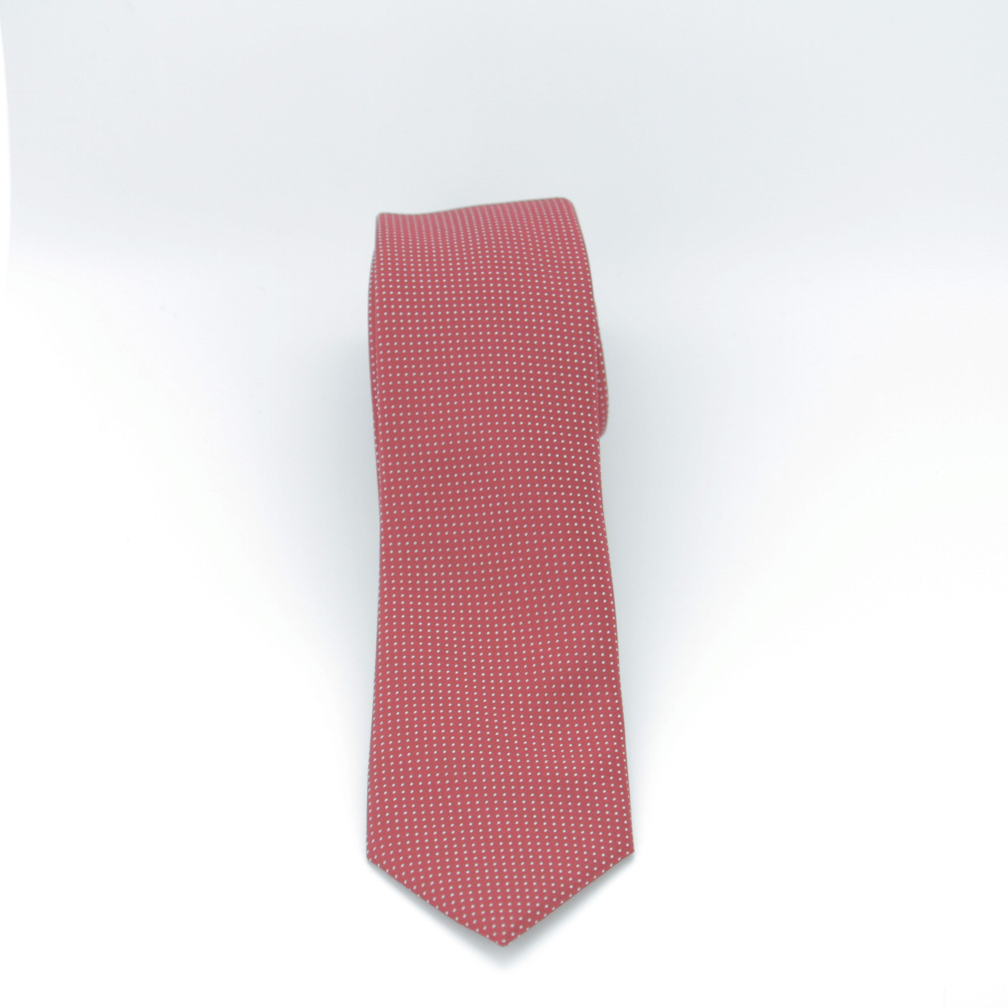 Red with White Dots Long Tie