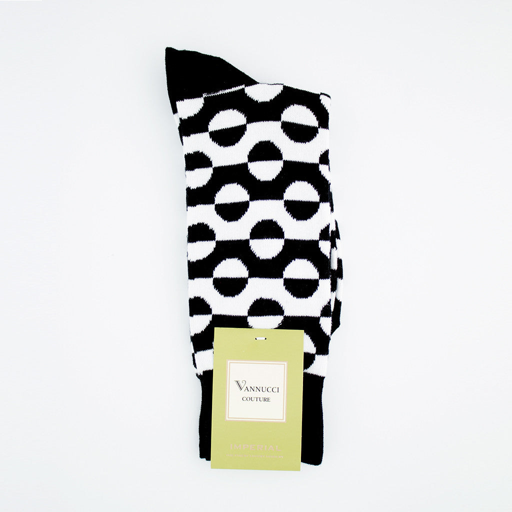 Black and White Patterned Socks