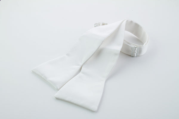 White Silk Self-tie Bow