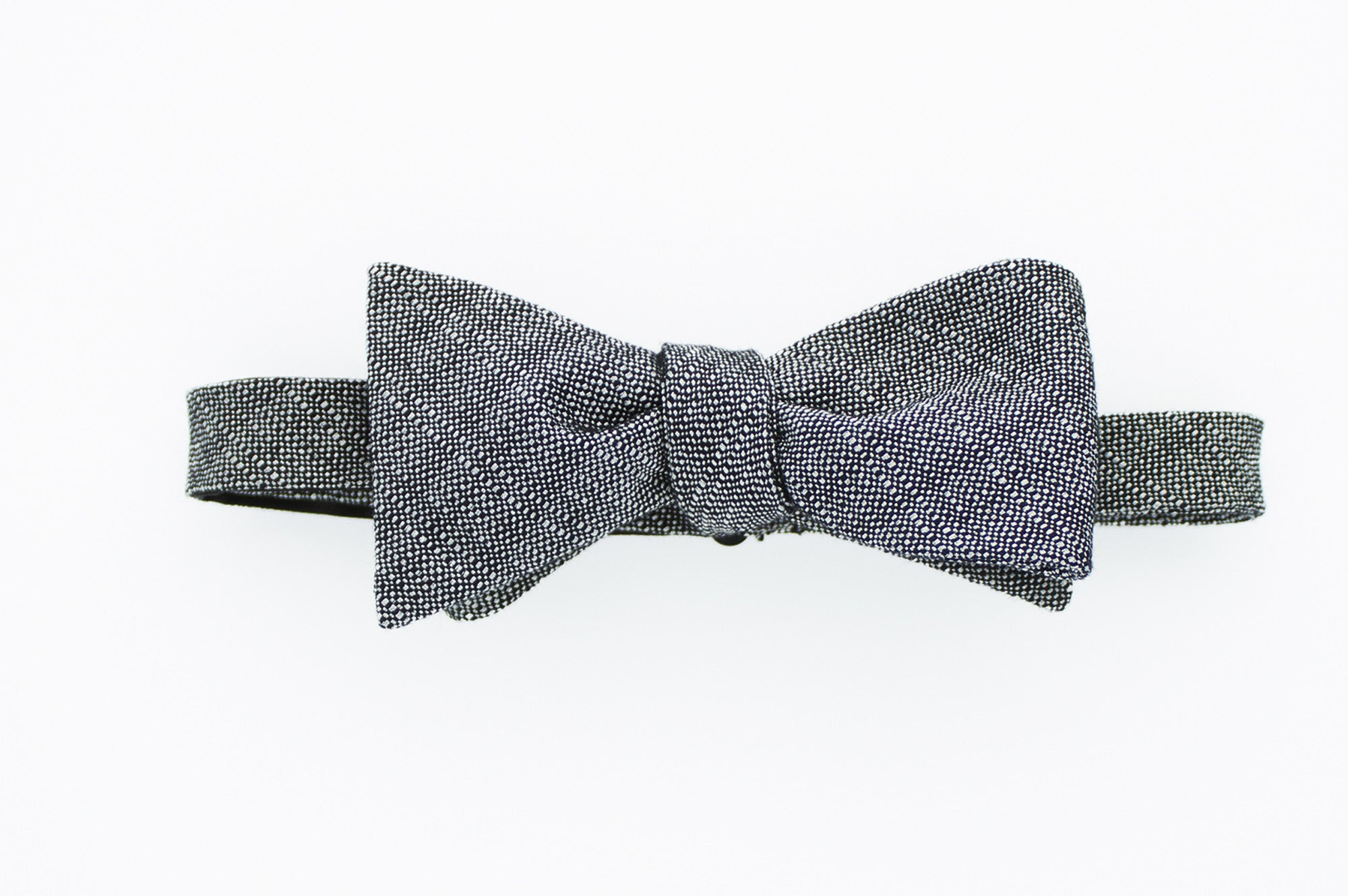 Grey Woven Texture Bow Tie