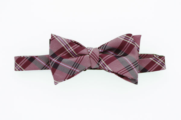 Aubergine Purple Plaid Bow Tie