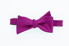 Dark Fuchsia with Navy Dot Bow Tie