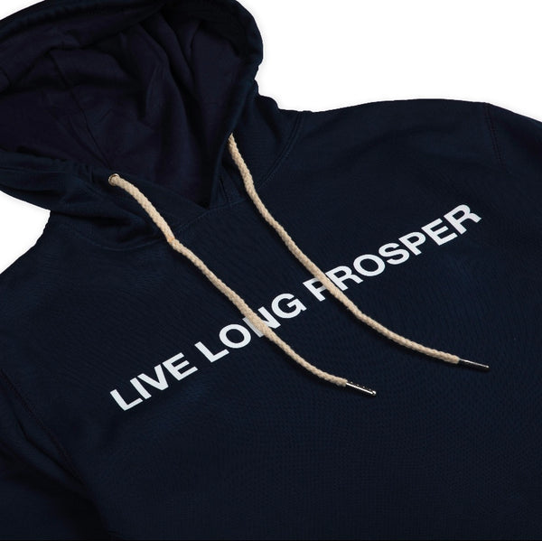LIVE LONG 2 HOODY (NAVY/WHITE)