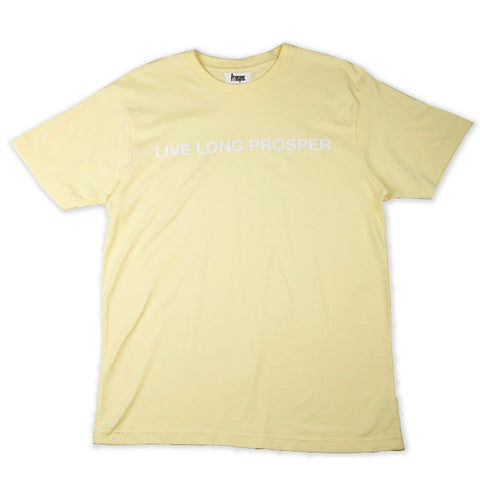LIVE LONG 2 S/S TEE (LIGHT CHARTREUSE/WHITE)