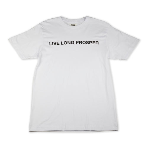 LIVE LONG 2 S/S TEE (WHITE/BLACK)