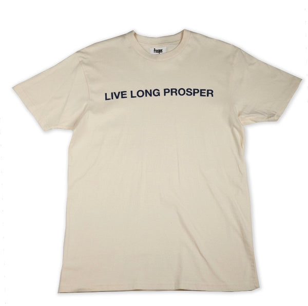 LIVE LONG 2 S/S TEE (CREAM/NAVY)