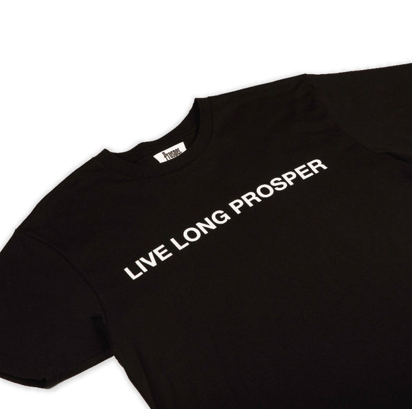 LIVE LONG 2 S/S TEE (BLACK/WHITE)