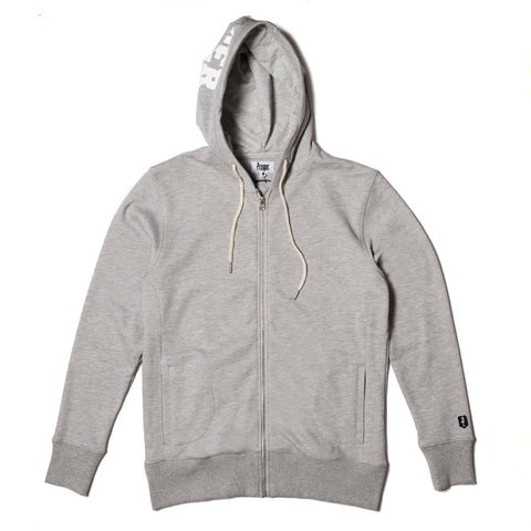 WHITNER ZIP HOODY (Heather Grey)