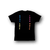 LOVE HATE S/S TEE (Black)