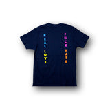 LOVE HATE S/S TEE (Navy)