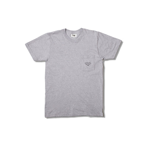I Cared Pocket Tee (Heather Grey)