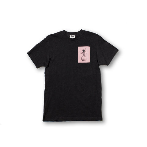 SILHOUETTE S/S TEE (Heather Charcoal)