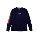 BURN OUT L/S TEE (Navy)