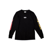 BURN OUT L/S TEE (Black)