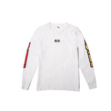 BURN OUT L/S TEE (White)