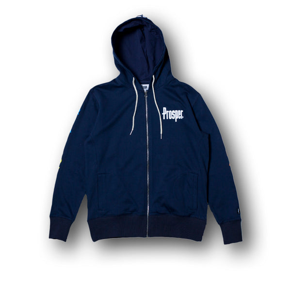 LOVE HATE HOODY (Navy)