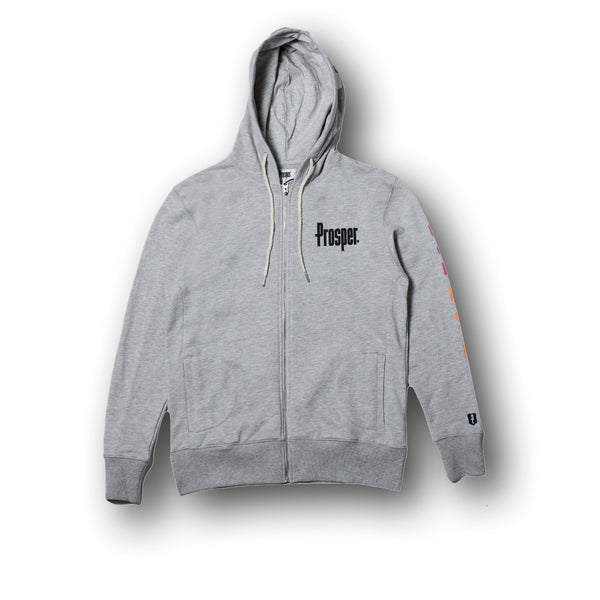 LOVE HATE HOODY (Heather Grey)