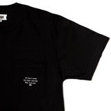 I Cared Pocket Tee (Black)