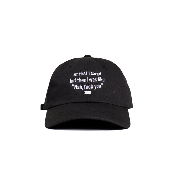 I Cared Hat (Black)