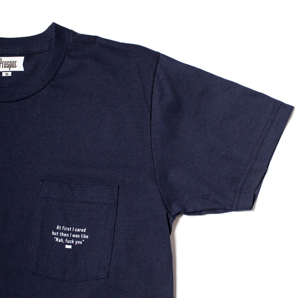 I Cared Pocket Tee (Navy)