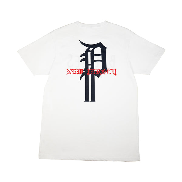 BULLIES S/S TEE (WHITE/NAVY)