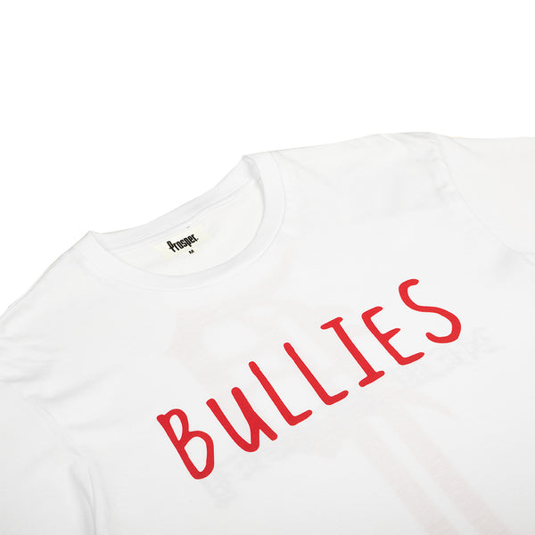 BULLIES S/S TEE (WHITE/RED)