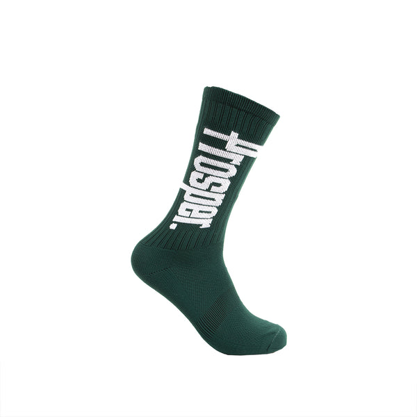 PROSPER CREW 3 SOCKS (FOREST GREEN/WHITE)