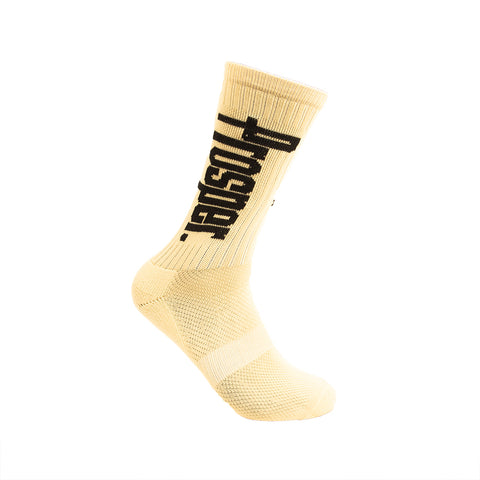 PROSPER CREW 3 SOCKS (VEGAS GOLD/BLACK)