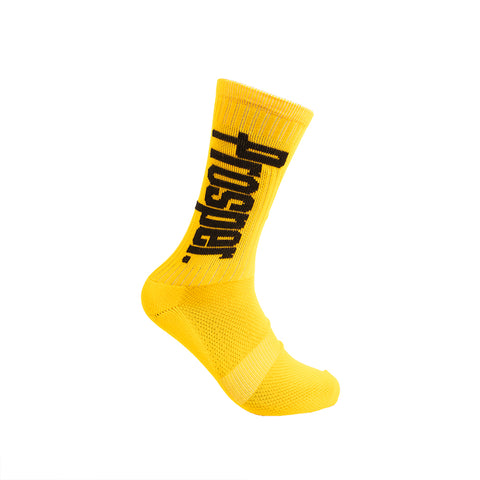 PROSPER CREW 3 SOCKS (GOLD/BLACK)