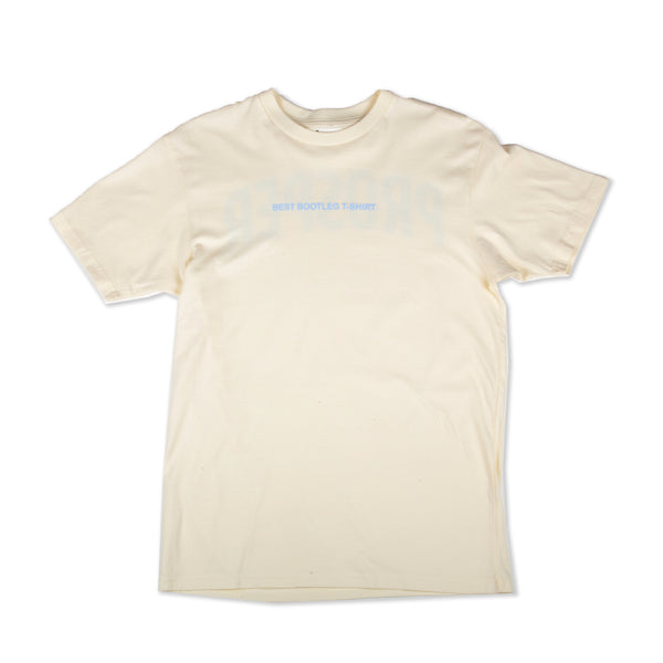 BOOTLEG S/S TEE (CREAM/BLUE)