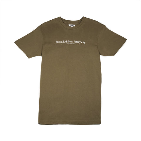 JUST A KID 3 S/S TEE (MILITARY GREEN)