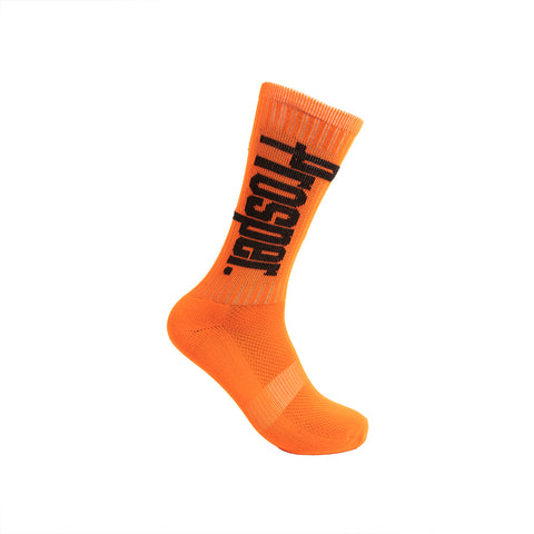 PROSPER CREW 3 SOCKS (ORANGE/BLACK)